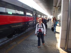 Arrival at Venezia train station San Lucia