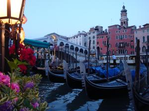 Rialto Bridge from our restaurant