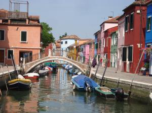 The whole town of Burano is like this