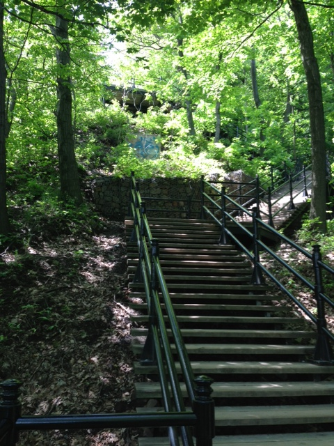 Stairs to the top of Mont Royal