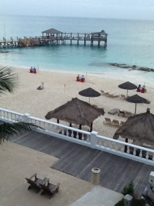 View from our room. Three couples were having private dinners on the beach.