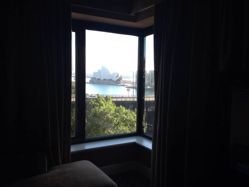 View from hotel room in Sydney