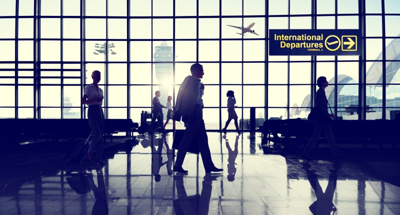 International Terminal Business Travel Transportation Concept